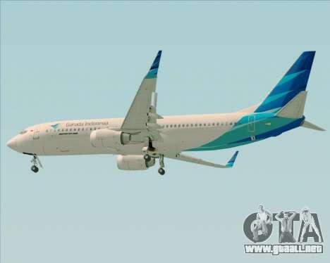 Boeing 737-800 Garuda Indonesia para la visión correcta GTA San Andreas