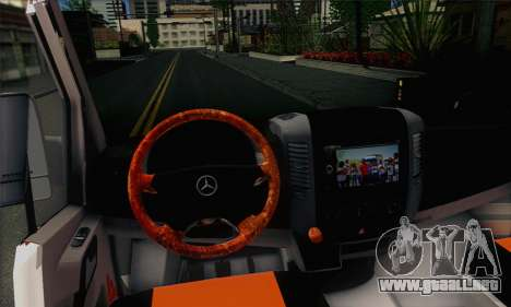 Mercedes-Benz Sprinter Servis para GTA San Andreas vista posterior izquierda