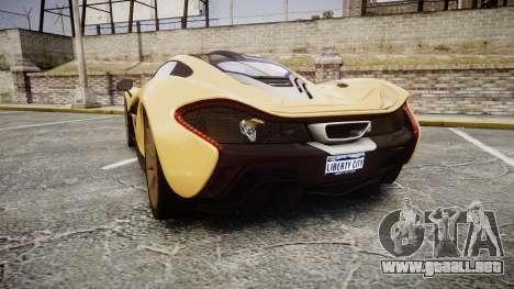 McLaren P1 [EPM] para GTA 4 Vista posterior izquierda