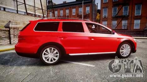 Volkswagen Passat 2014 Unmarked Police para GTA 4 left