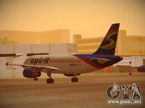 Airbus A319-132 Spirit Airlines para la visión correcta GTA San Andreas