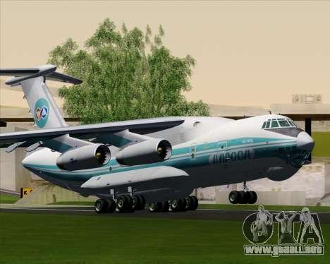 IL-76TD ALROSA para GTA San Andreas vista hacia atrás