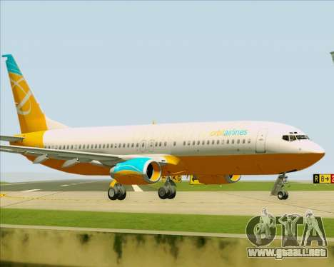 Boeing 737-800 Orbit Airlines para visión interna GTA San Andreas