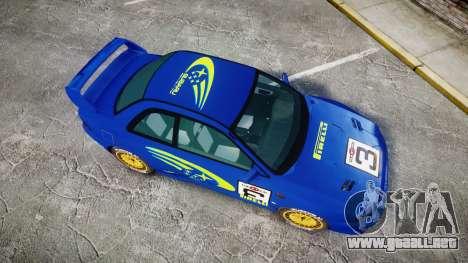 Subaru Impreza WRC 1998 World Rally para GTA 4 visión correcta