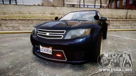 GTA V Cheval Fugitive Unmarked [ELS] Slicktop para GTA 4