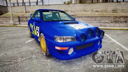 Subaru Impreza WRC 1998 Rally v3.0 Yellow para GTA 4