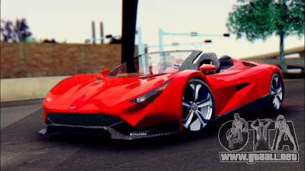 Specter Roadster 2013 (SA Plate) para GTA San Andreas