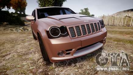 Jeep Grand Cherokee SRT8 rim lights para GTA 4