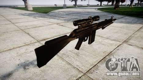 Rifle de G3SG1 para GTA 4 segundos de pantalla
