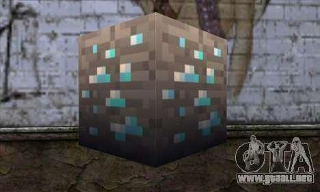 Bloque (Minecraft) v1 para GTA San Andreas segunda pantalla