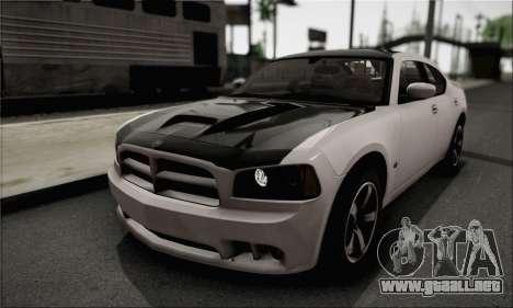 Dodge Charger SuperBee para GTA San Andreas vista hacia atrás