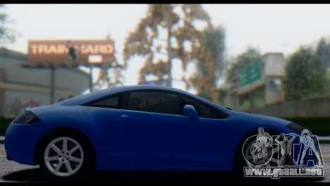 Mitsubishi Eclipse 2006 para visión interna GTA San Andreas