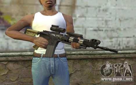 M4 MGS Aimpoint v2 para GTA San Andreas tercera pantalla