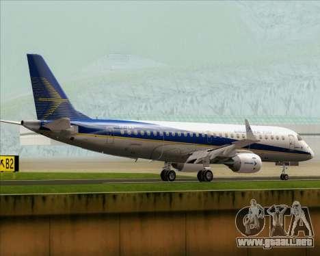 Embraer E-190-200LR House Livery para la visión correcta GTA San Andreas