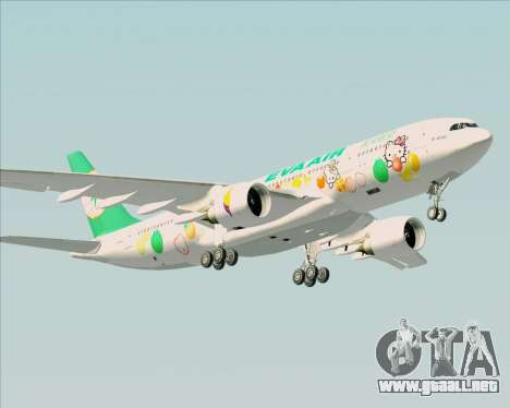Airbus A330-200 EVA Air (Hello Kitty) para la visión correcta GTA San Andreas