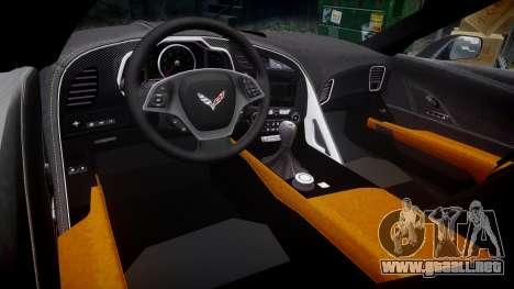 Chevrolet Corvette C7 Stingray 2014 v2.0 TireBr3 para GTA 4 vista interior