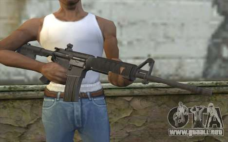 M4 de Francotirador Guerrero Fantasma para GTA San Andreas tercera pantalla