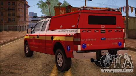 Ford F150 Fire Department Utility 2005 para GTA San Andreas left