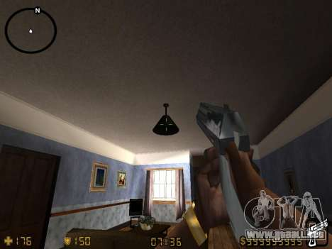 Counter-Strike HUD para GTA San Andreas sucesivamente de pantalla