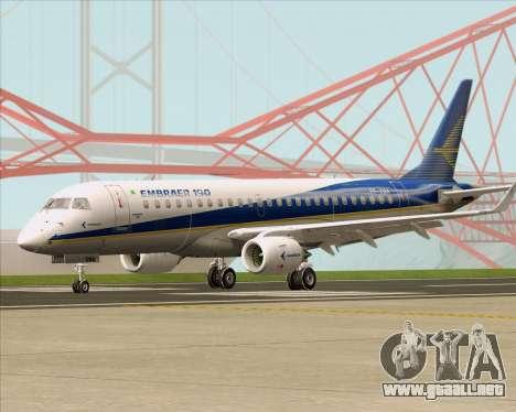 Embraer E-190-200LR House Livery para GTA San Andreas left