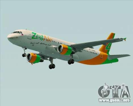 Airbus A320-200 Zest Air para la visión correcta GTA San Andreas