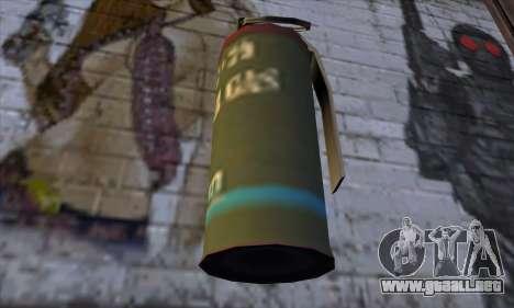 Smoke Grenade from GTA 5 para GTA San Andreas tercera pantalla