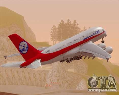 Airbus A380-800 Sichuan Airlines para GTA San Andreas