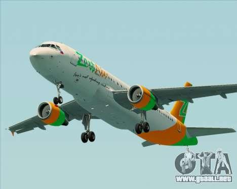 Airbus A320-200 Zest Air para el motor de GTA San Andreas