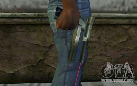 AMT Hardballer Longslide con mira Láser para GTA San Andreas tercera pantalla