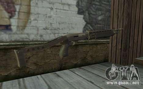Escopeta (Renegade X Negro Amanecer) para GTA San Andreas segunda pantalla