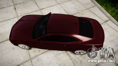 Chevrolet Camaro SS [ELS] Unmarked runners para GTA 4 visión correcta