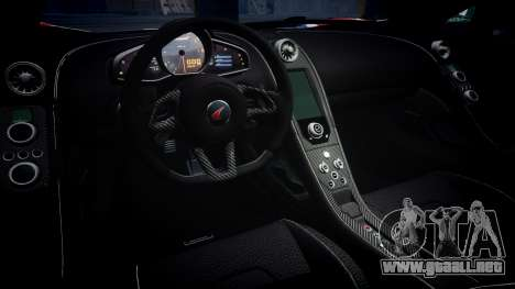 McLaren 650S Spider 2014 [EPM] v2.0 UK para GTA 4 vista interior