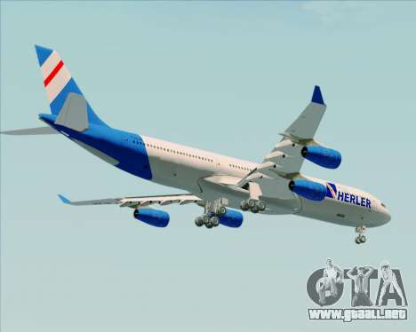 Airbus A340-300 Air Herler para vista inferior GTA San Andreas
