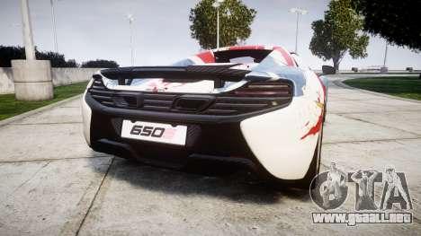 McLaren 650S Spider 2014 [EPM] v2.0 UK para GTA 4 Vista posterior izquierda