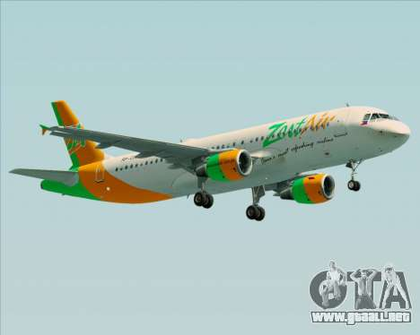Airbus A320-200 Zest Air para GTA San Andreas left