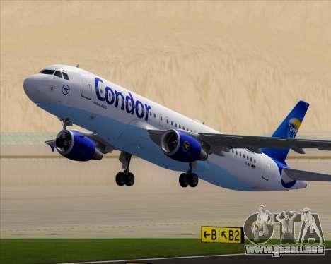Airbus A320-200 Condor para las ruedas de GTA San Andreas