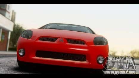 Mitsubishi Eclipse 2006 para GTA San Andreas vista posterior izquierda