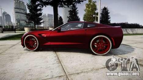 Chevrolet Corvette C7 Stingray 2014 v2.0 TireKHU para GTA 4 left