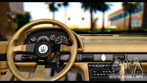 Maserati Ghibli II Cup (AM336) 1995 [ImVehFt] para GTA San Andreas vista posterior izquierda