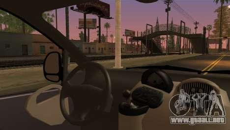 Fiat Multipla Black Bumpers para GTA San Andreas vista posterior izquierda