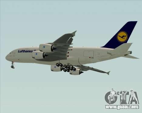 Airbus A380-800F Lufthansa Cargo para la visión correcta GTA San Andreas