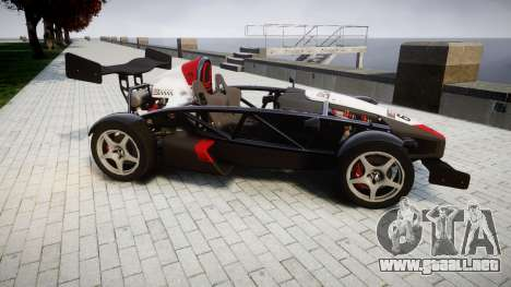 Ariel Atom V8 2010 [RIV] v1.1 Garton Racing Team para GTA 4 left