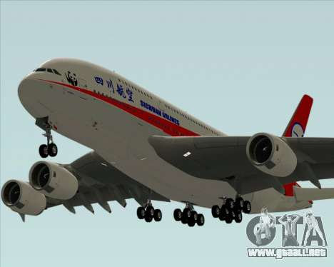 Airbus A380-800 Sichuan Airlines para el motor de GTA San Andreas