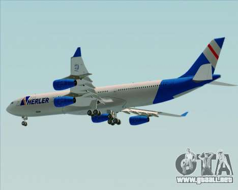 Airbus A340-300 Air Herler para GTA San Andreas vista hacia atrás