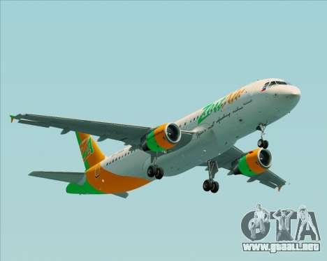 Airbus A320-200 Zest Air para visión interna GTA San Andreas