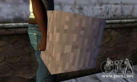Bloque (Minecraft) v13 para GTA San Andreas tercera pantalla