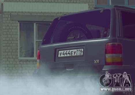 Jeep Grand Cherokee ZJ para la visión correcta GTA San Andreas