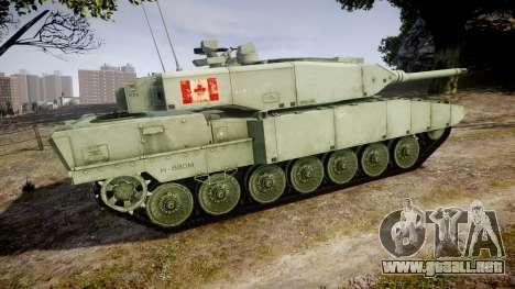 Leopard 2A7 CA Green para GTA 4 left