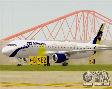 Airbus A320-200 Jet Airways para GTA San Andreas left