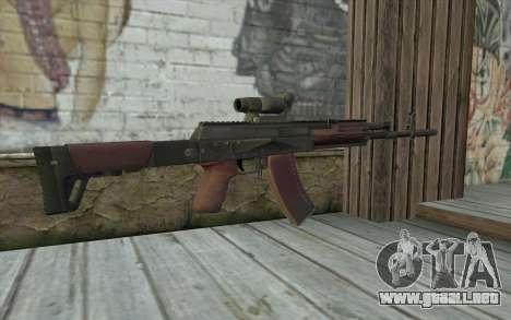 AEK from Battlefield 4 para GTA San Andreas segunda pantalla